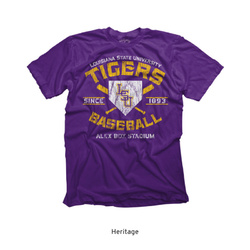 Highland & State Purple LSU Alex Box Stadium Heritage Tee