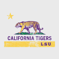 LSU Tigers Premium Ash Grey California Tigers LSU T-Shirt