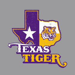 LSU Texas Tiger Grey T-shirt