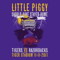 2017 LSU vs. Arkansas Gameday Shirt
