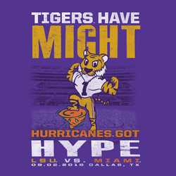 2018 LSU vs. Miami Gameday T-shirt
