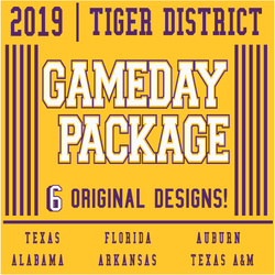 2019 LSU Gameday T-shirt Package