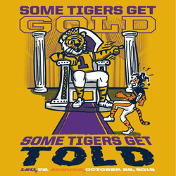 2019 LSU vs. Auburn GOLD GAME T-shirt