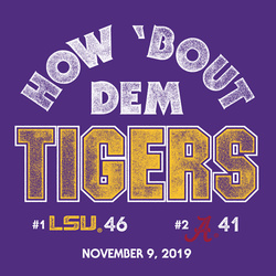 2019 LSU vs Alabama Victory Shirt
