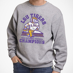 SWEATSHIRT Tough Guy Grey: 2019 LSU National Champions