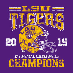 Classic Thrifty: 2019 LSU National Champions T-Shirt by Highland & State