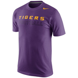 LSU Tigers Nike Football Practice Training Day T-Shirt - Purple