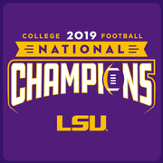 Knockout PURPLE: 2019 LSU National Champions T-Shirt by Highland & State