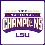 Knockout WHITE: 2019 LSU National Champions T-Shirt by Highland & State
