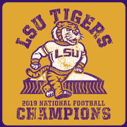 Tough Guy GOLD: 2019 LSU National Champions T-Shirt by Highland & State