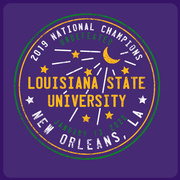 MARDI GRAS Water Meter: 2019 LSU National Champions T-Shirt