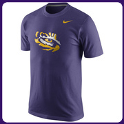 LSU Tigers Nike Logo T-Shirt - Purple