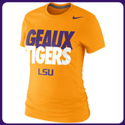 LSU Tigers Nike Women's Local Slim Fit T-Shirt - Yellow